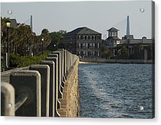 Charleston South Carolina Waterfront Battery Acrylic Print by Dustin K Ryan
