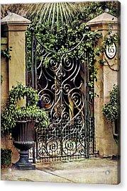Charleston South Carolina Wrought Iron Gates Acrylic Print