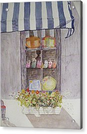 Charleston Window Acrylic Print by Stella Schaefer
