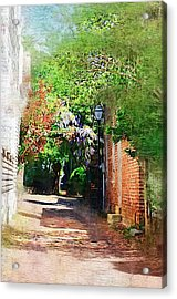 Acrylic Print featuring the photograph Charlestons Alley by Donna Bentley