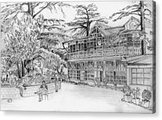 Acrylic Print featuring the drawing Charleville by Padamvir Singh