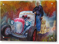 Charlie And Bella's Ride Acrylic Print