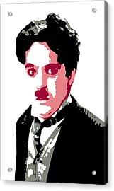 Charlie Chaplin Acrylic Print by DB Artist