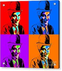 Charlie Chaplin Four 20130212 Acrylic Print by Wingsdomain Art and Photography