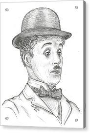 Charlie Chaplin Acrylic Print by Steven White