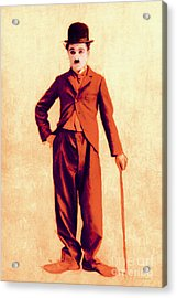 Charlie Chaplin The Tramp 20130216p68 Acrylic Print by Wingsdomain Art and Photography