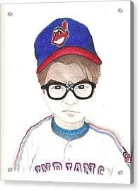 Charlie Sheen A.k.a Rick Vaughn Acrylic Print by Gerard  Schneider Jr