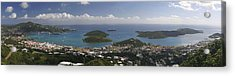 Charlotte Amalie From Above Acrylic Print by Gary Lobdell
