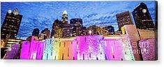 Charlotte Bearden Park Waterfall Fountain Panorama Acrylic Print by Paul Velgos