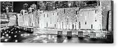 Charlotte Bearden Park Waterfall Fountain Panorama Photo Acrylic Print by Paul Velgos