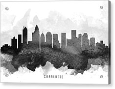 Charlotte Cityscape 11 Acrylic Print by Aged Pixel
