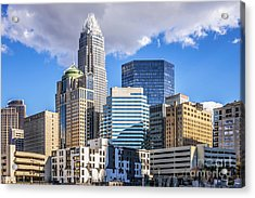 Charlotte Downtown City Buildings Photo Acrylic Print by Paul Velgos