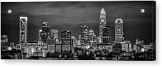 Charlotte Greyscale Acrylic Print by Brian Young