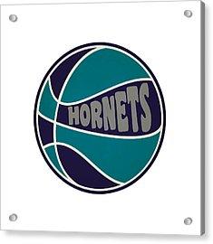 Charlotte Hornets Retro Shirt Acrylic Print by Joe Hamilton