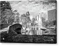 Charlotte Marshall Park Black And White Photo Acrylic Print by Paul Velgos