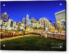 Charlotte North Carolina At Night Acrylic Print by Paul Velgos