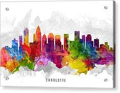 Charlotte North Carolina Cityscape 13 Acrylic Print by Aged Pixel