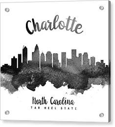 Charlotte North Carolina Skyline 18 Acrylic Print by Aged Pixel