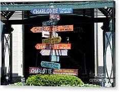 Charlotte Signs Acrylic Print