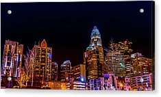 Charlotte Skyline At Night Acrylic Print