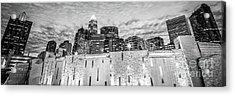 Charlotte Skyline Bearden Park Black And White Panorama Acrylic Print by Paul Velgos