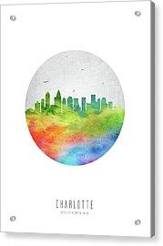 Charlotte Skyline Usncch20 Acrylic Print by Aged Pixel