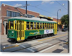 Charlotte Streetcar Line 4 Acrylic Print by Joseph C Hinson Photography