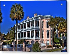 Charlston Battery Mansion Acrylic Print by Corky Willis Atlanta Photography
