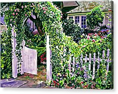 Charming Cottage Gate Acrylic Print by David Lloyd Glover