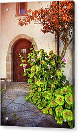 Charming Old Door In Basel  Acrylic Print by Carol Japp
