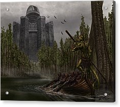 Charon Conveys The Party To Fate Acrylic Print by Chad Glass