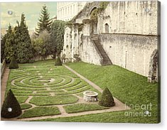 Chartres Labyrinth Garden Acrylic Print by Juli Scalzi