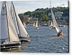 Chase Boats Acrylic Print by Tom Dowd