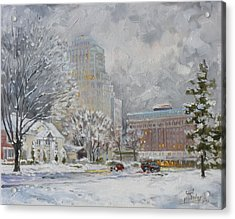 Chase Park Plaza In Winter, St.louis Acrylic Print