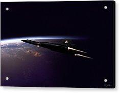 Chasing Daylight Acrylic Print by Peter Chilelli