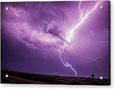 Chasing Nebraska Lightning 018 Acrylic Print