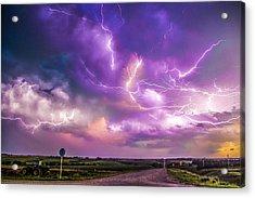 Chasing Nebraska Lightning 056 Acrylic Print