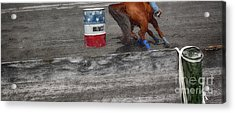 Chasing The Barrel  Acrylic Print by Steven Digman