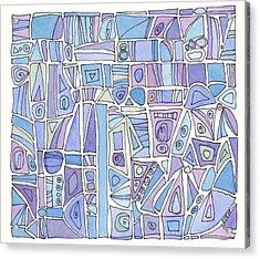Chasing The Blues Acrylic Print by Linda Kay Thomas