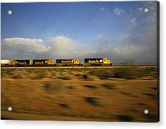 Chasing The Desert Wind Acrylic Print by Susan  Benson