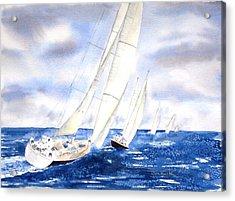 Chasing The Fleet Acrylic Print