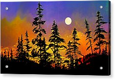 Chasing The Moon Acrylic Print by Hanne Lore Koehler