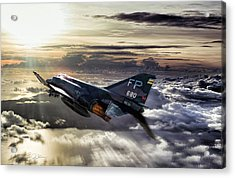 Chasing The Sun Robin Olds Acrylic Print by Peter Chilelli