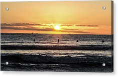 Chasing The Waves Acrylic Print