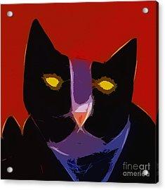 Chat Noir Acrylic Print by Lutz Baar