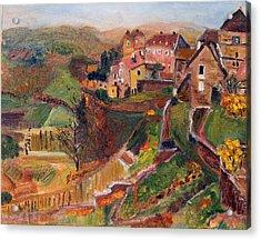 Chateau Chalon Acrylic Print