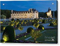 Chateau Chenonceau Twilight Acrylic Print