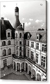 Chateau De Chambord Courtyard And Staircase  Acrylic Print by Olivier Le Queinec