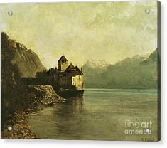 Chateau De Chillon Acrylic Print by Gustave Courbet