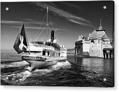 Chateau De Chillon, Steamboat Acrylic Print